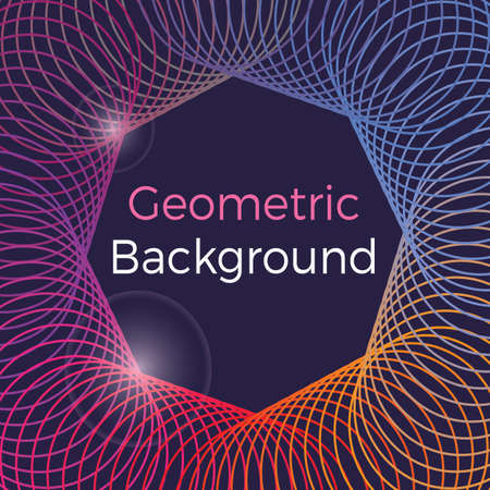 Colorful vector of abstract geometric pattern and background  イラスト・ベクター素材
