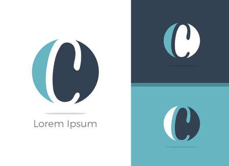 Spa and Salon C letter logo design, letter C in zen vector icon.  イラスト・ベクター素材