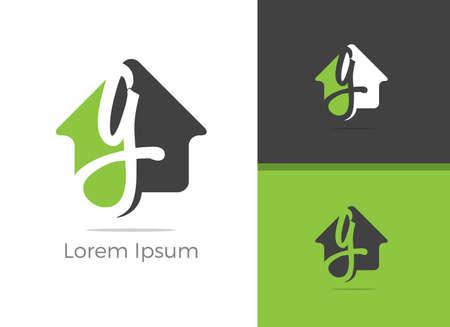 Real Estate G letter logo design, letter g in home vector icon.