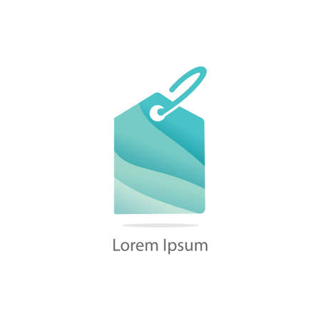Shopping discount offer tag vector logo design. online purchase