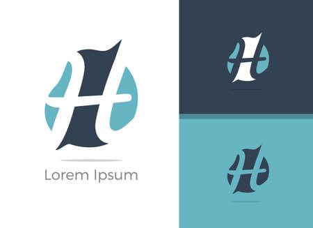 H logo, vector h letter design illustration.