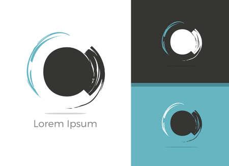 Spa and Salon C letter logo design, letter C in zen vector icon. Çizim