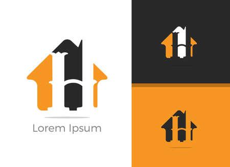 Real Estate H letter logo design, letter h in home vector icon. Archivio Fotografico - 138425140