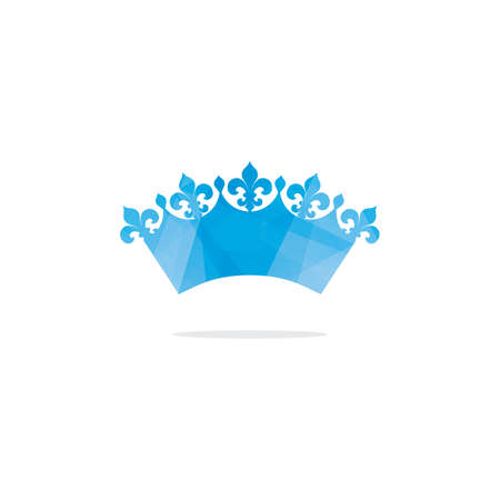 Colorful crown logo design, abstract king crown vector icon.