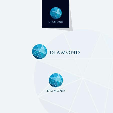 Diamond logo design, Crushing abstract pattern. Colorful precious stone logotype. Jewelry shop logo. Vectores