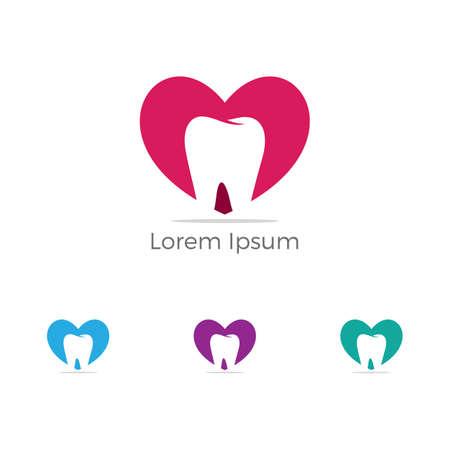 Dental logo, Home care dental service vector, dentist icon. Stock Illustratie