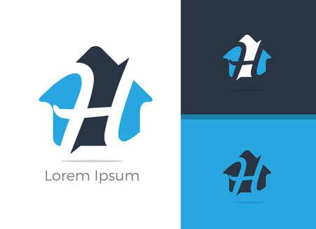 Real Estate H letter logo design, letter h in home vector icon. Archivio Fotografico - 138426630