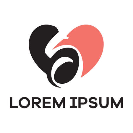 S letter logo design. Letter s in heart shape vector illustration. Ilustrace