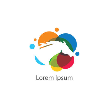 loin Vector Illustration. low poly dog logo design.