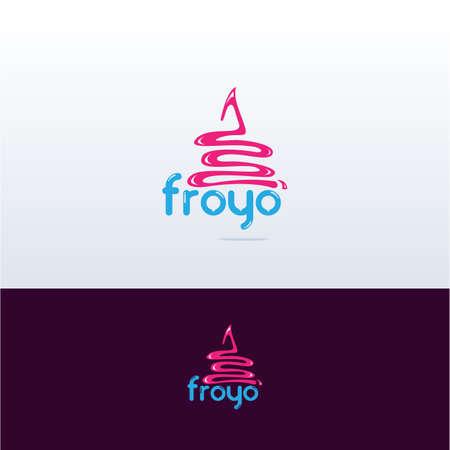 Cupcake, Yogurt logo , Ice cream vector logo design.