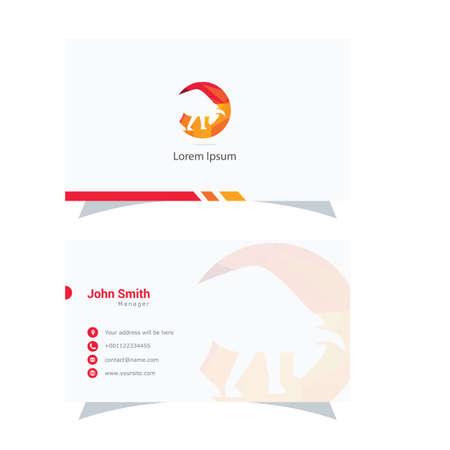 Polygonal Bull logo design, abstract low poly animal vector icon, animal business card. Ilustrace