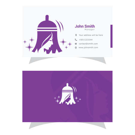 Cleaning service logo design, wash vector, maid business card Stock Illustratie