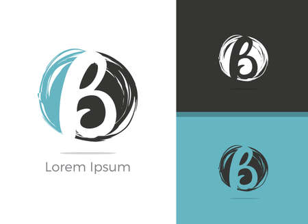 B letter logo design, letter B in circlevector icon.