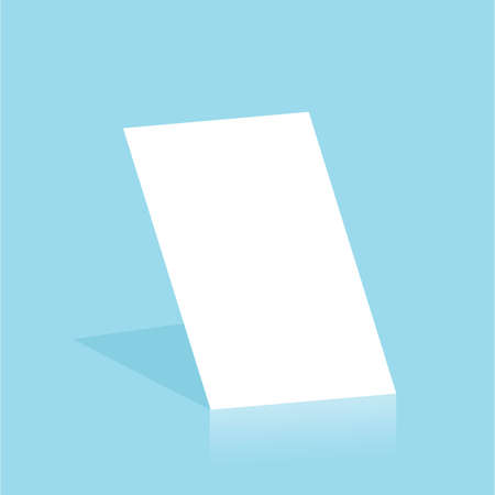 Mockup blank white paper page A4 size with shadow. Vector A3 size paper mock up isolated on gray background. Ilustracja