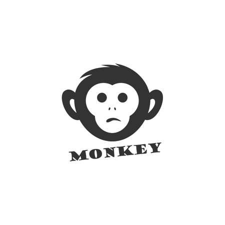 Monkey logo design, monkey vector icon, animal illustration