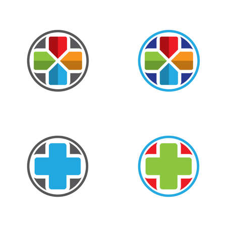 Medical cross vector logo design. Hospital and clinic vector illustration. Ilustrace