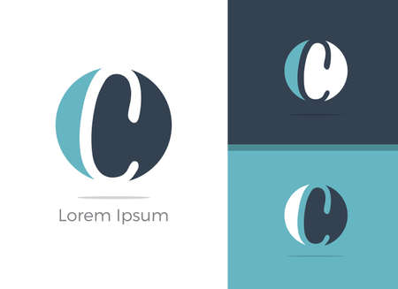 Spa and Salon C letter logo design, letter C in zen vector icon. Stock Illustratie