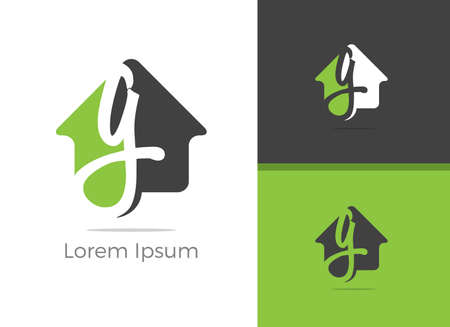 Real Estate G letter logo design, letter g in home vector icon.