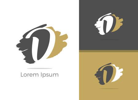 Beauty and Spa Massage center D letter logo design, letter D in Zen vector icon.