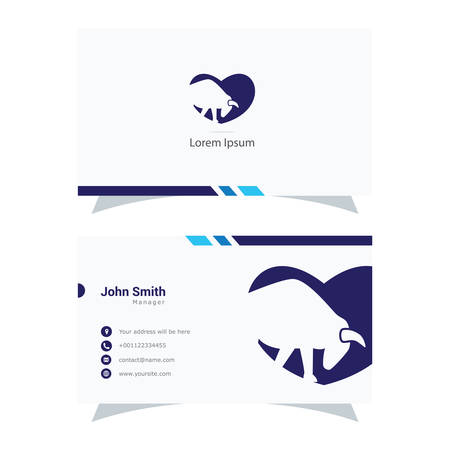 Bull in heart logo design, cow animal vector icon, animal business card. Stock Illustratie