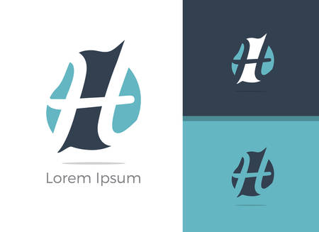 H logo, vector h letter design illustration.
