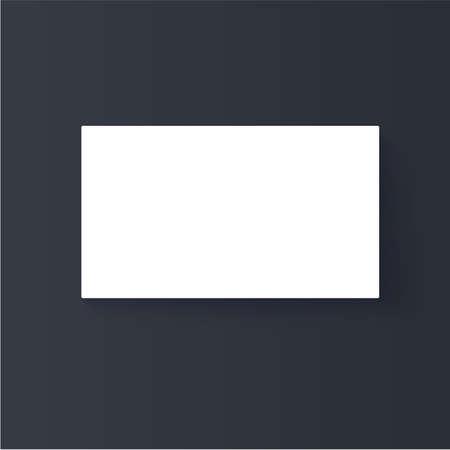 Business card mock up design vector. White paper card vector mockup. logo presentation placement file. Illustration