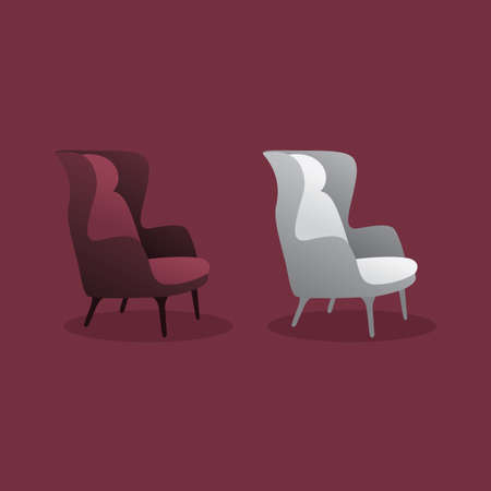 Luxury Chair vector design. Chair icon. luxury office chair illustration.