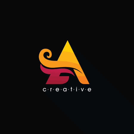 logo letter A with creative and colorful