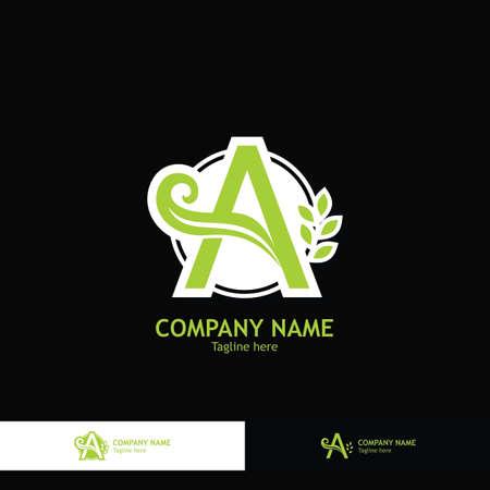Logo A Letter And Leaf Logo Design