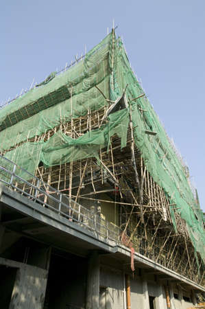 Bamboo Scaffolding in Hong Kong photo