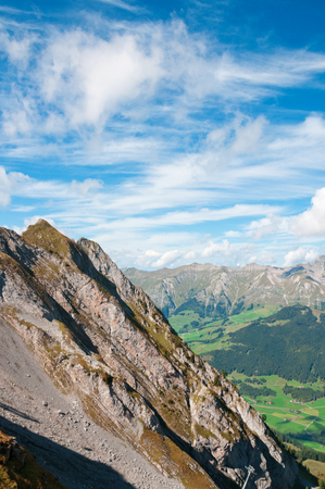Colorful view of the Alps in the summer photo
