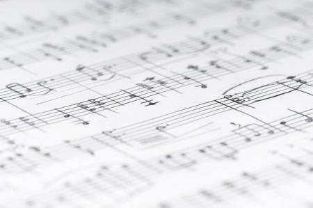 Handwritten musical notes, shallow DOF Foto de archivo