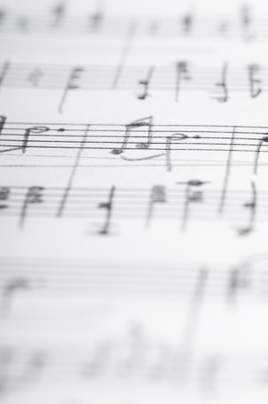 Handwritten musical notes, shallow DOF photo