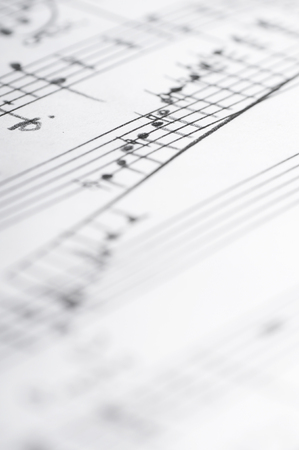 Handwritten musical notes, shallow DOF Reklamní fotografie
