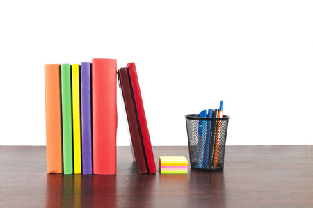 Books on the table photo