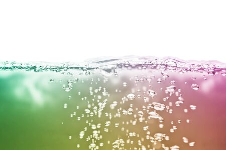 cian: colored water with air bubbles