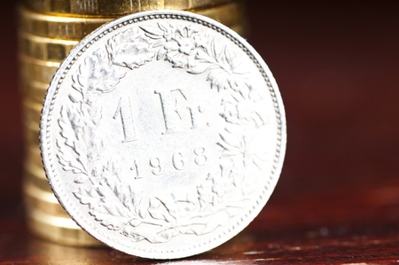 franc: Swiss one franc coin