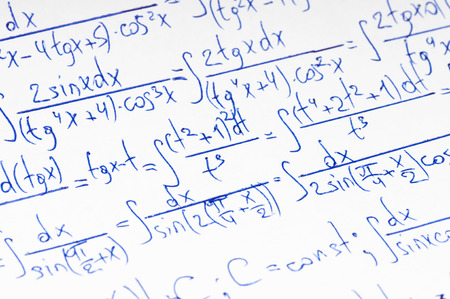 matematica: C�lculo manuscrita de matem�ticas superiores como fondo