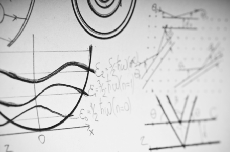 quantum physics: Graphs and charts of nuclear and quantum physics as a background
