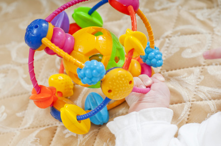 Toys in childrens hands