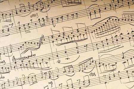 hoja en blanco: Antiguo manuscrito musical