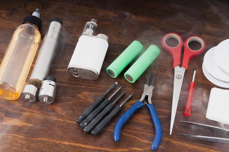 rta: Set to vape. Tools, candy, liquid, RDA, RTA.
