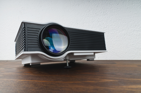 Projector on table