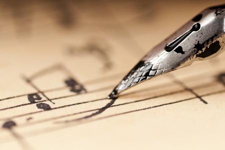 Vintage notes. Manuscript. Old pen writing ink