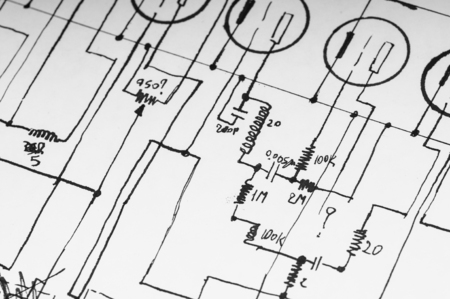 Plan Drawing Circuit Tools Stock Photos And Images