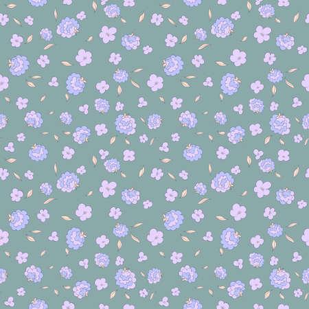 Naadloos bloemenpatroon met kleine bloemen