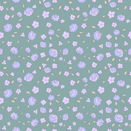Seamless floral pattern with small flowers