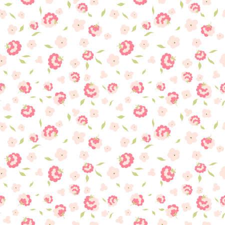 schattige kleine bloemen naadloze patroon Stock Illustratie