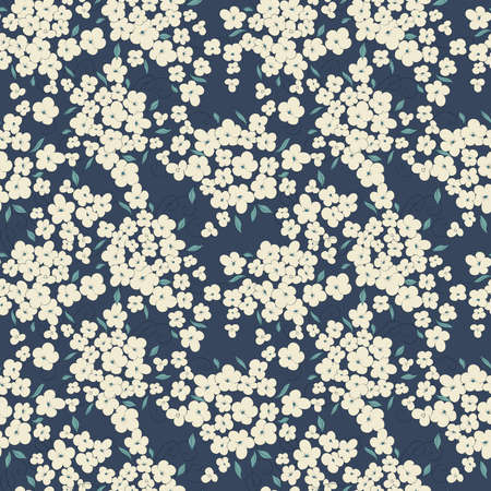 floral pattern: little flowers seamless vector pattern
