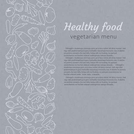 healthy food. vegetarian menu Vector